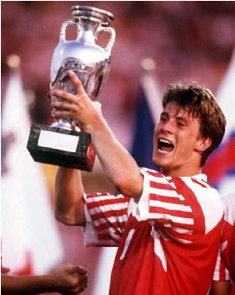 Brian Laudrup twintig jaar geleden na de EK-triomf. Beeld UNKNOWN