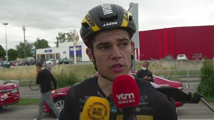 Wout van Aert werd tweede na Cavendish.