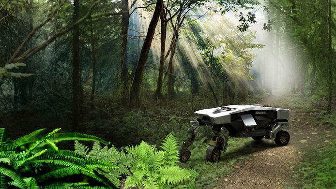 Diep in de jungle of de woestijn: de Hyundai Tiger X-1 moet overal kunnen komen. Zolang zijn batterijen het volhouden, natuurlijk.