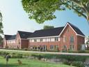 Impressietekening van nieuwbouwwijk Hof van Leyland in Woerden.