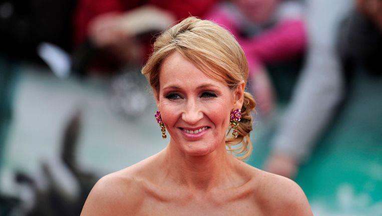 J.K. Rowling geeft doe dat het einde anders kon. Beeld AFP
