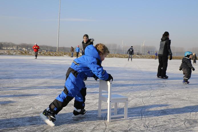IJspret op schaatsbaan de Elskens in Oosterhout.