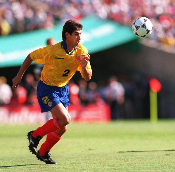 Andres Escobar tijdens het WK van 1994.