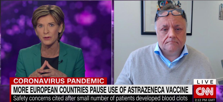 Marc Van Ranst op CNN Beeld CNN