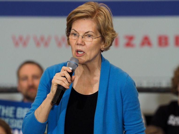 Voor Elizabeth Warren wordt het knokken om de 15 procent te halen.