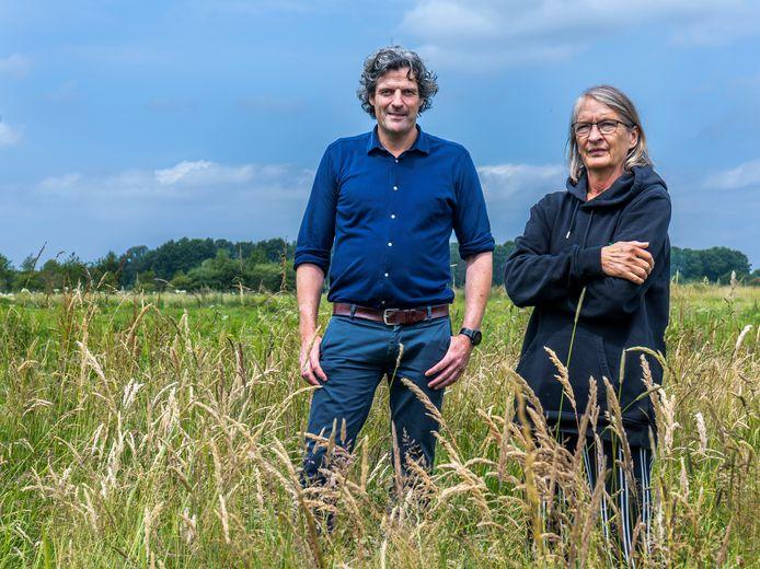 Bob van Ginkel en Louise Geurtsen zijn bang dat de rustieke sfeer in het Noorderpark verdwijnt als er een partycentrum en golfbaan komen.