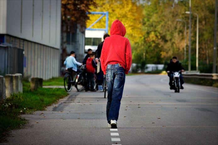 Jongeren op straat in Utrecht
