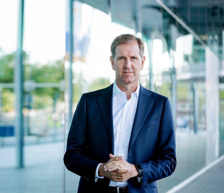 Wiebe Draijer, bestuursvoorzitter van de Rabobank.  Beeld Robin van Lonkhuijsen / ANP