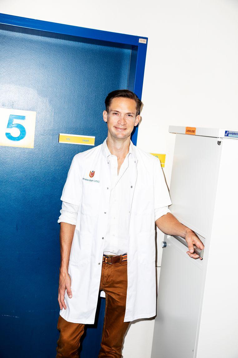 Sportcardioloog Harald Jørstad maakt zich zorgen. Aan corona kan iemand een ontstoken hartspier overhouden en bij een op de tien topsporters die plotseling overlijden, blijkt achteraf een ontstoken hartspier de oorzaak. Beeld Marie Wanders