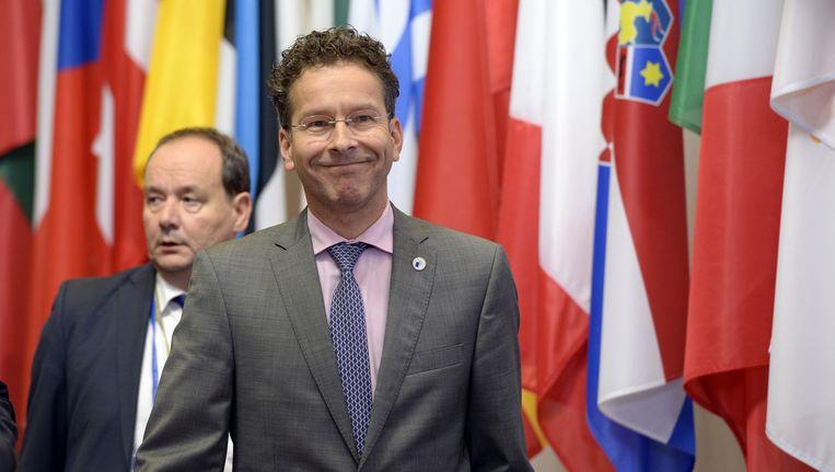 Jeroen Dijsselbloem is herkozen als voorzitter van de Eurogroep. Beeld AFP