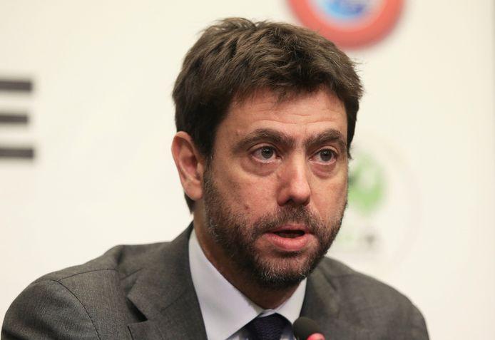 Andrea Agnelli, le président de la Juventus Turin et du syndicat européen des clubs (ECA)