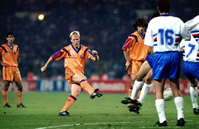De vrije trap van Ronald Koeman tegen Sampdoria op 20 mei 1992 op Wembley.