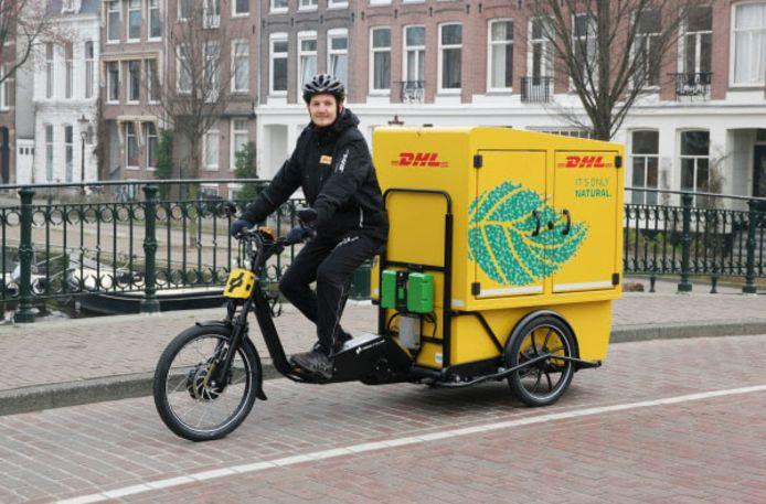 De nieuwe cargobike van DHL.