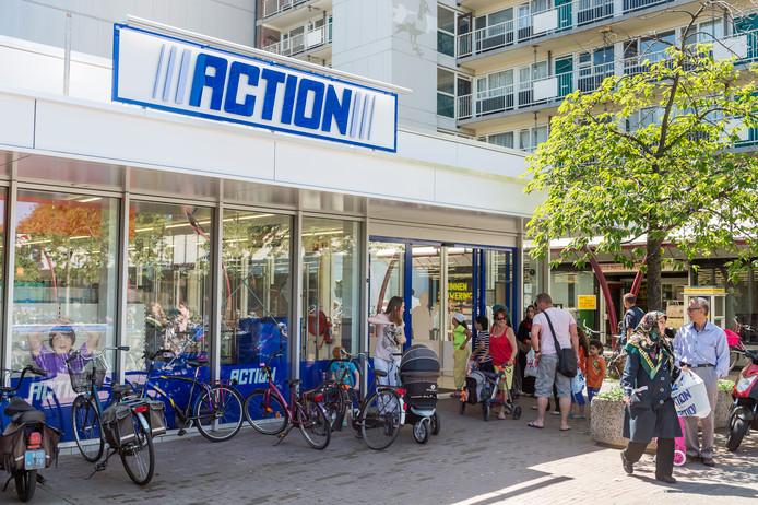 Een filiaal van Action in winkelcentrum De Hoven, Delft.