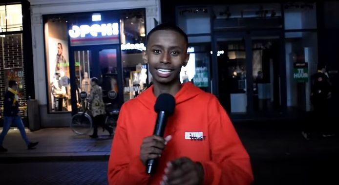 YouTuber Chatmo tijdens eerdere opnames in Den Bosch.