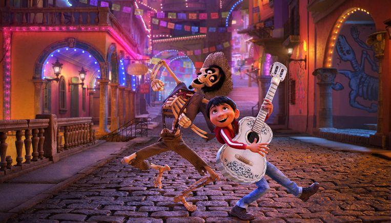 Héctor en Miguel in Coco. Beeld