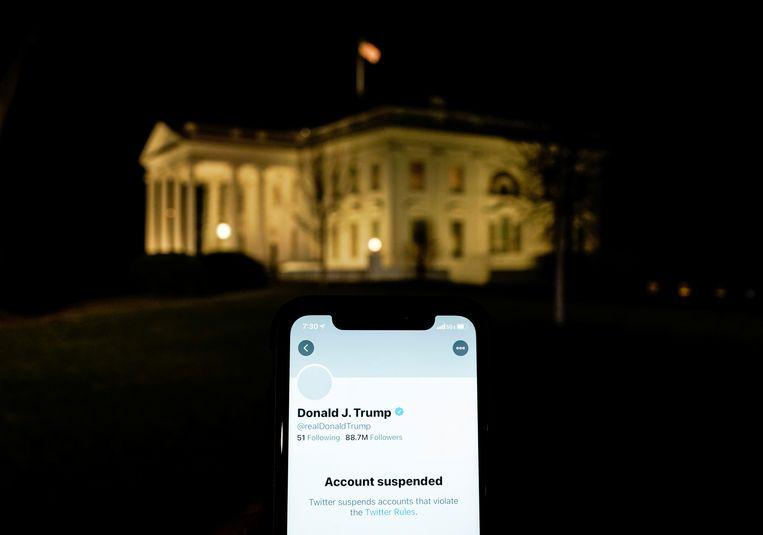 Het Twitteraccount van Donald Trump is geblokkeerd. Beeld REUTERS