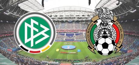 Wereldkampioen Duitsland ontvangt Mexico