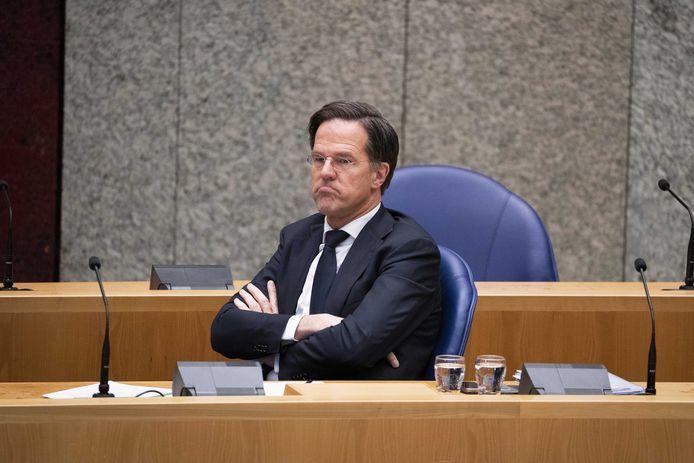 Premier Rutte in de Tweede Kamer.