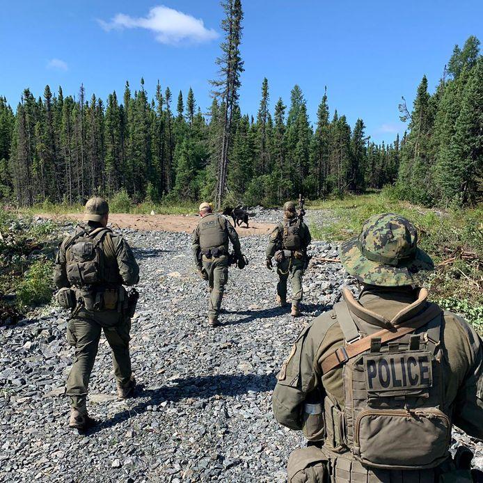 De zoektocht van de Canadese politie.
