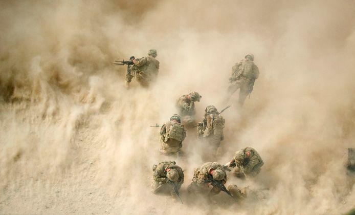 Amerikaanse soldaten in Afghanistan.