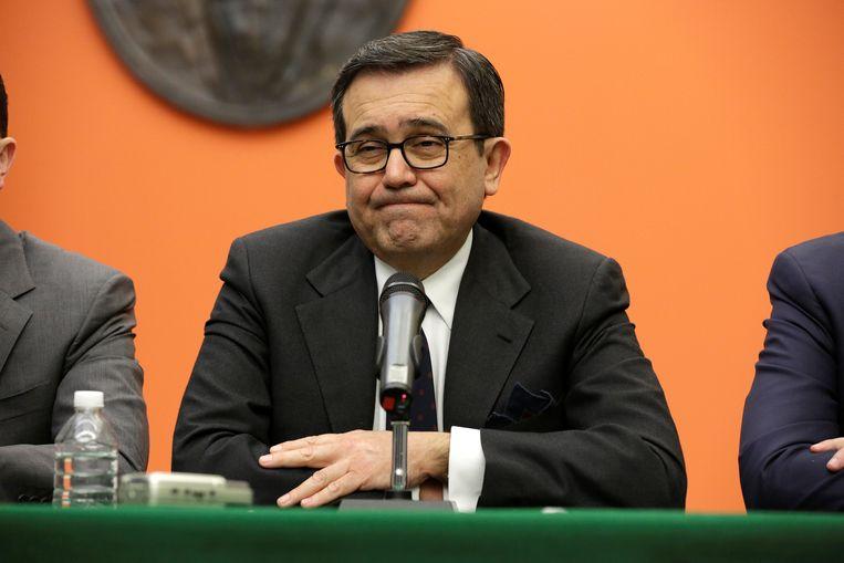 Ildefonso Guajardo, de Mexicaanse minister van Economie. Beeld REUTERS