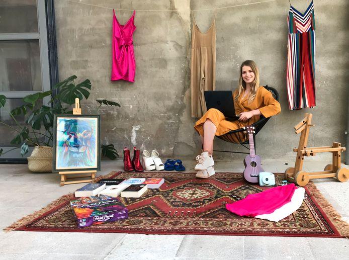 Tessa Papavoine organiseert een digitale kleedjesmarkt