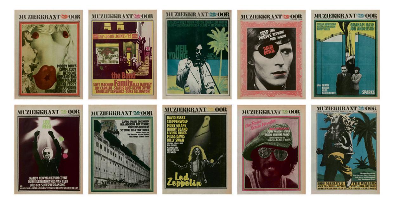 Covers van OOR uit de jaren zeventig.