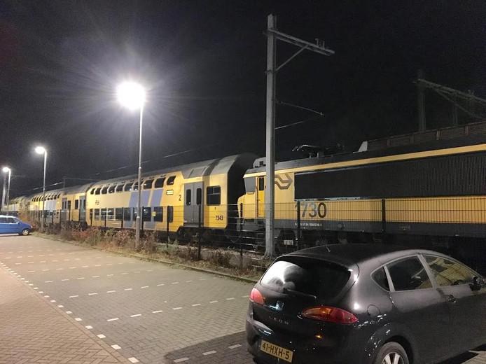 Kapotte trein station Deurne