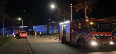 Opslagcontainer met accu's vat vlam bij groothandel Celectric BV in Harderwijk