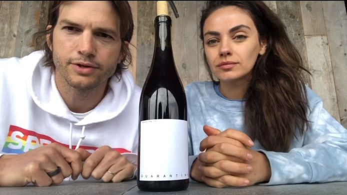 Mila Kunis et Ashton Kutcher lancent le vin de la quarantaine.
