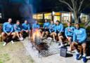 De spelers van Uruguay genoten van een barbecue tijdens de interlandbreak.