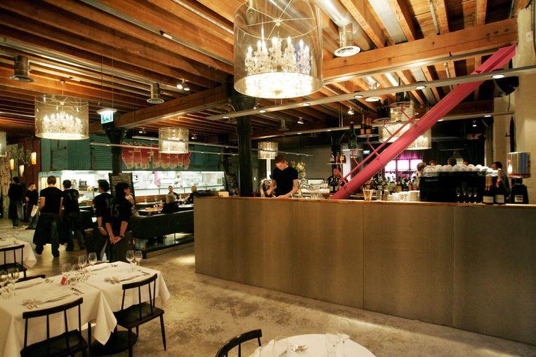 Het interieur van restaurant Fifteen van Jamie Oliver. Beeld ANP