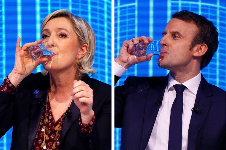 Halen Marine Le Pen en Emmanuel Macron de tweede ronde in mei, dan wint de onafhankelijke kandidaat gemakkelijk van Le Pen: 60 tegenover 40 procent. Beeld AP