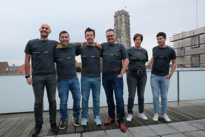 Gunther Baert, Hendrik Winkelmans, Roelof Winkelmans, Marc Schoenmakers, Dominique Vrijsen en Evert Winkelmans.