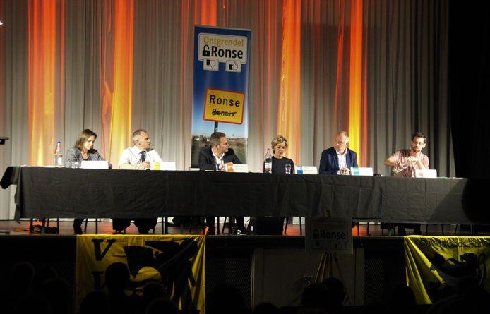 De Vlaamse Volksbeweging en Davidsfonds Ronse polst naar het standpunt van de nationale partijen over de taalfaciliteiten.