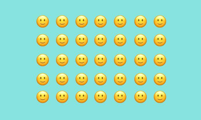 De simpelste smiley ... met de meest complexe interpretatie.
