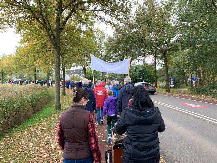 In 2019 hield een groep Vughtenaren een stille tocht om aandacht te vragen voor behoud van de groene Jagersboschlaan én de wijze waarop Vught omgaat met inspraak.