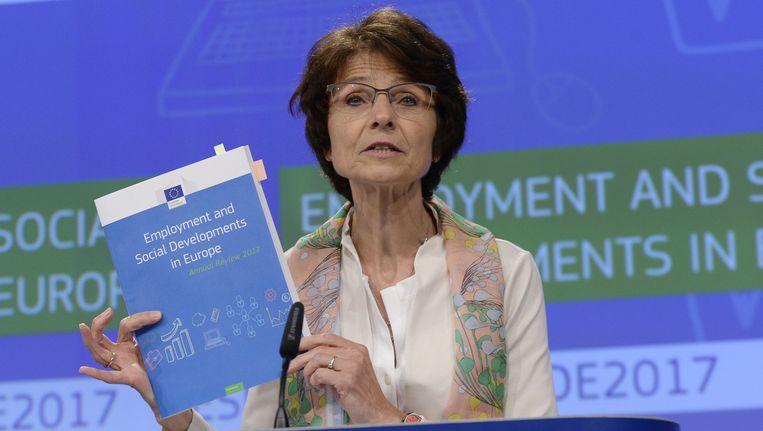 Eurocommissaris Marianne Thyssen (CD&V) declareerde ook de onkosten voor CD&V-recepties. Beeld afp