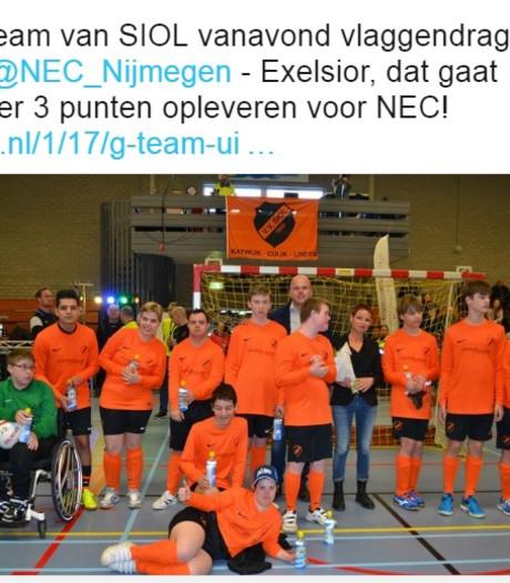 G-team SIOL draagt vlag bij NEC - Excelsior