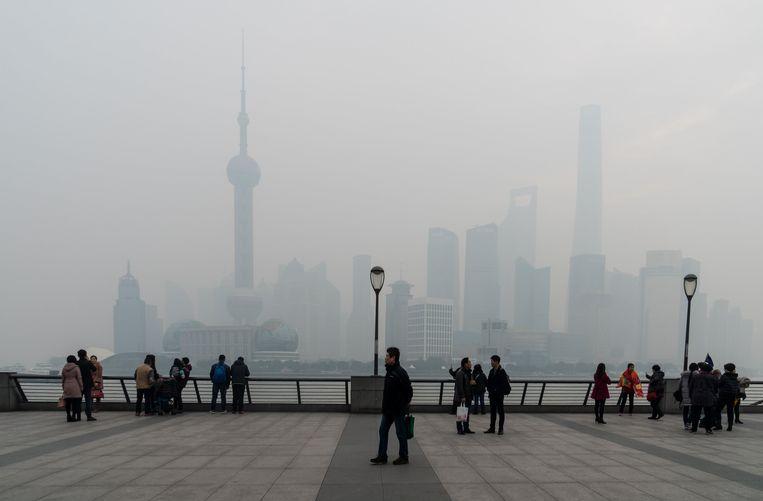 Zware smog in Shanghai. Beeld Photo News