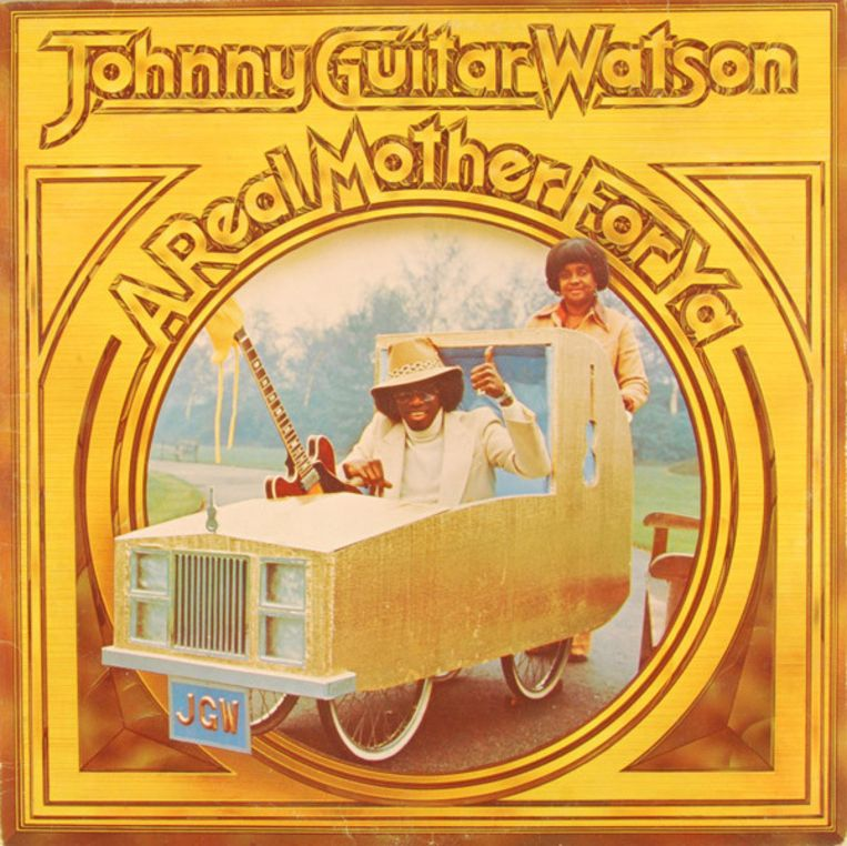 Het album A Real Mother For Ya van Johnny Guitar Watson. Beeld