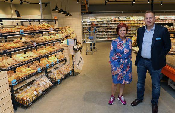 Sandra Gladine en Lars Van Gansen van Albert Heijn.