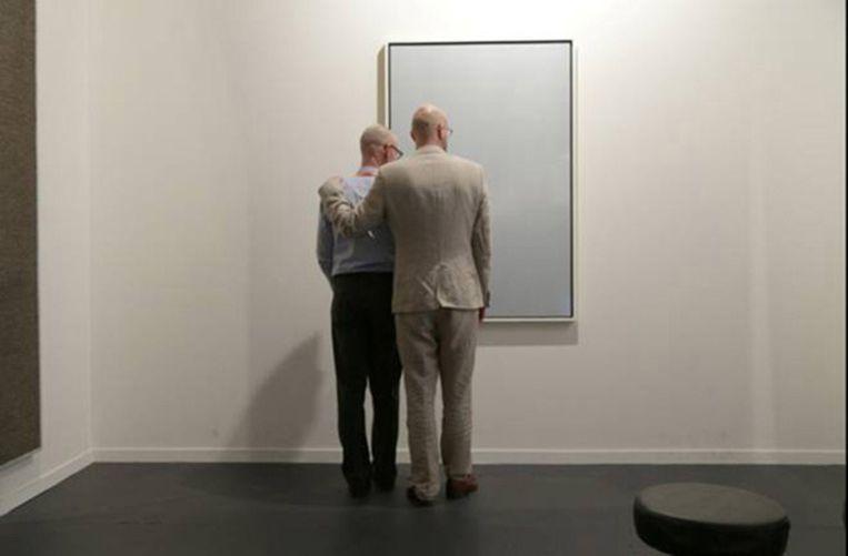 Sander Breure en Witte van Hulzen: Galeri Ansgar Lund, performance, vijf dagen acht uur per dag, ARCO Madrid, 2013. Beeld -