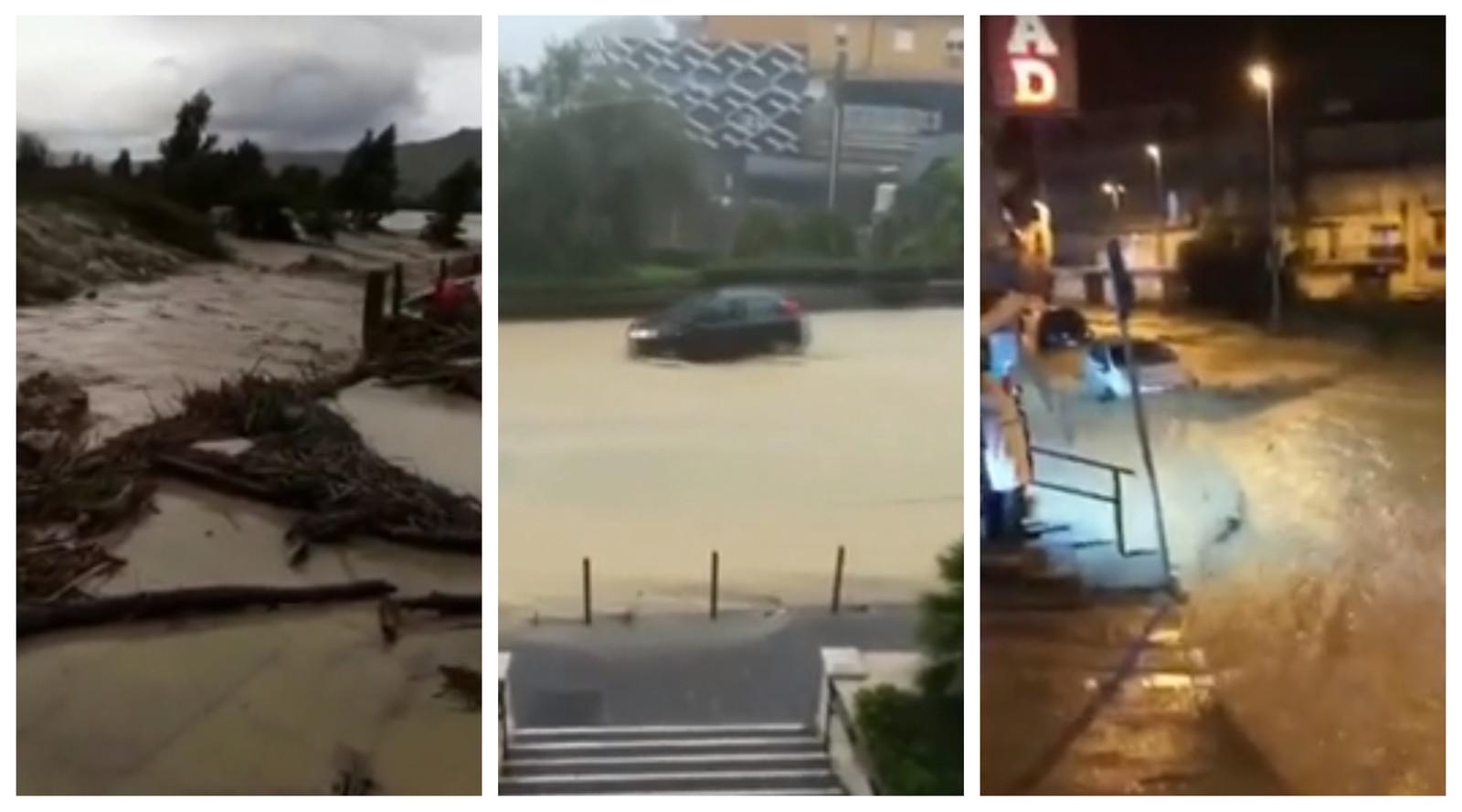 Deze beelden tonen de gevolgen van het zware noodweer op het Italiaanse eiland Sicilië aan.