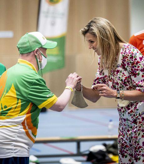 Koningin Máxima verrast sporters op Special Olympics: 'Ik heb met Máxima gebowld'