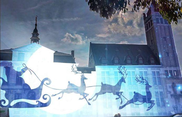 Op het stadhuis en de belforttoren zal een klank- en lichtspel te zien zijn.
