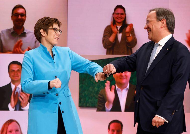 Armin Laschet is verkozen tot opvolger van Annegret Kramp-Karrenbauer. Beeld Hollandse Hoogte/AFP