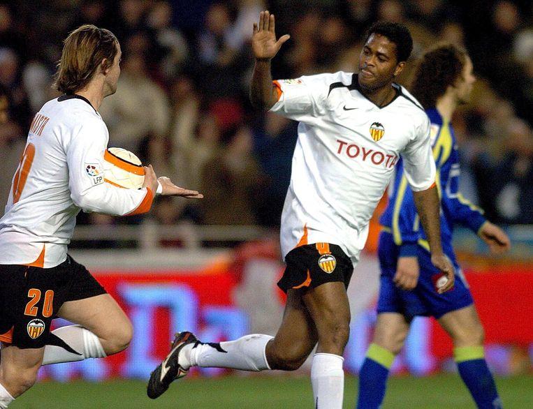 Kluivert speelde na een periode bij Newcastle United bij Valencia. Beeld ANP
