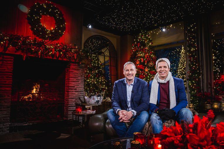 Gert Verhulst en James Cooke verzorgen de eindejaarsspecial 'Gert Last Year'. Beeld Nicolas Bogaert